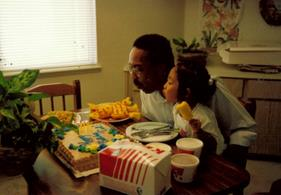 Celebrating Daddy's Birthday (mid-90s)